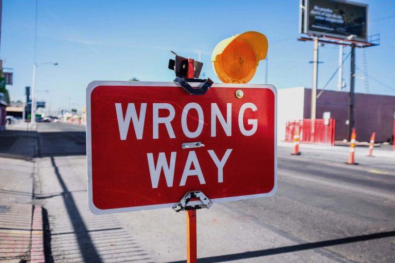 Camino incorrecto