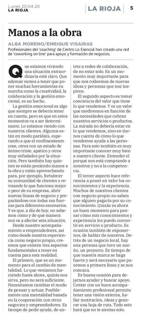Noticia Coworking En La Rioja